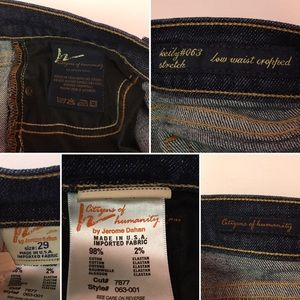 Citizens Of Humanity Jeans - CITIZENS OF HUMANITY Style 063 Crop Stretch size29